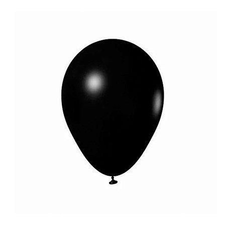 """Balão Bexiga Lisa Preto 6,5"""" 15cm - 20 Unidades"""