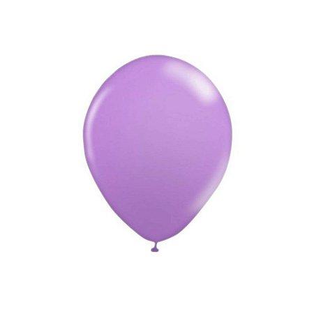 """Balão Bexiga Lisa Lilás 6,5"""" 15cm - 20 Unidades"""