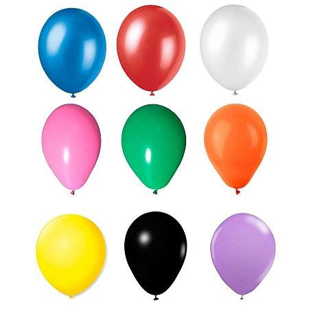 """Balão Bexiga Lisa Sortidas 6,5"""" 15cm - 20 Unidades"""