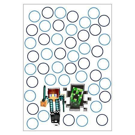 Quadro de Assinaturas e Digitais Authentic Games Minecraft 30x43cm - 1 Unidade
