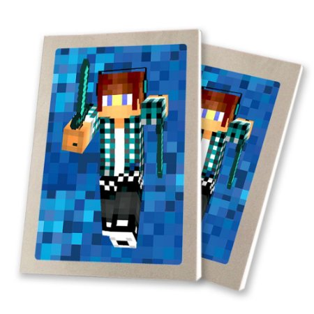 5 Bloquinhos de Papel 25 Folhas Authentic Games Minecraft 10,5x7,5cm