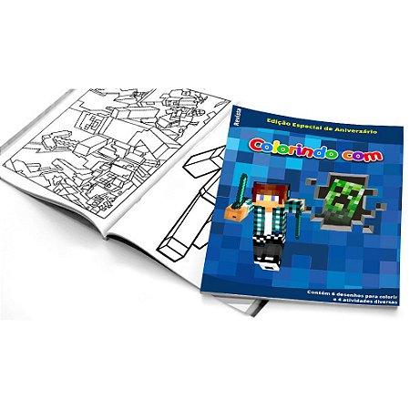 5 Cadernos de Colorir Authentic Games Minecraft