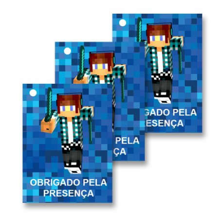 30 Tags Authentic Games Minecraft 4x3cm