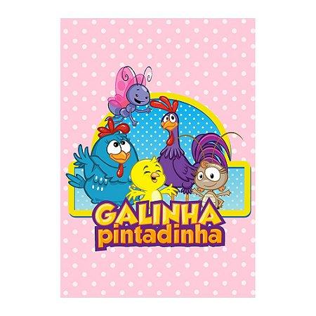 Poster Galinha Pintadinha Rosa 30x43 - 1 Unidade