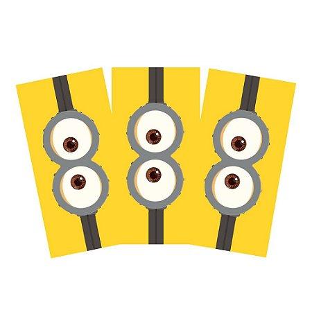 6 Adesivos Minions Retangular 20x10cm