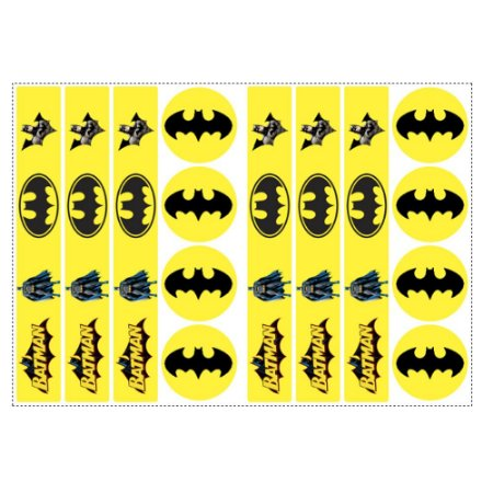 6 Adesivos Batman Geek para Pote de Papinha