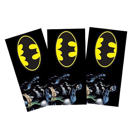 6 Adesivos Batman Geek Retangular 20x10cm