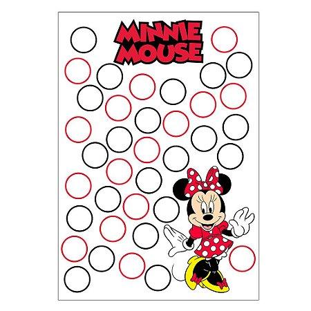 Quadro de Assinaturas e Digitais Minnie Vermelha 30x43cm - 1 Unidade