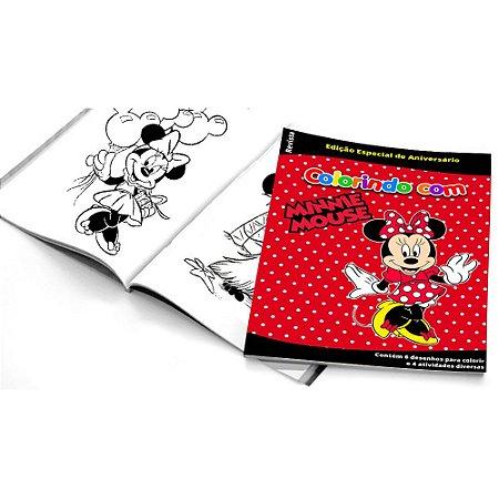 5 Cadernos de Colorir Minnie Vermelha