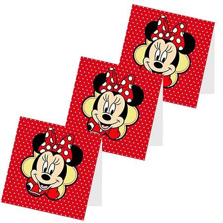 12 Capas de Pirulito Minnie Vermelha