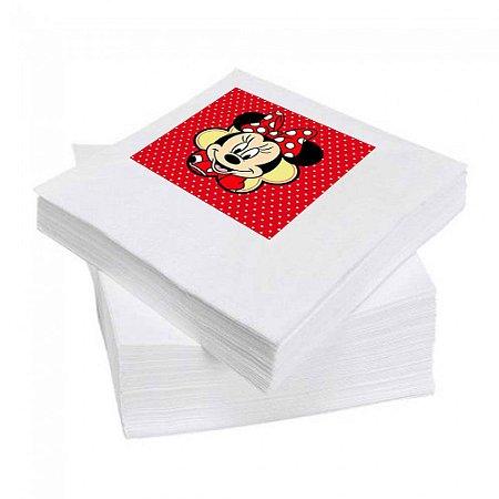 8 Guardanapos Minnie Vermelha