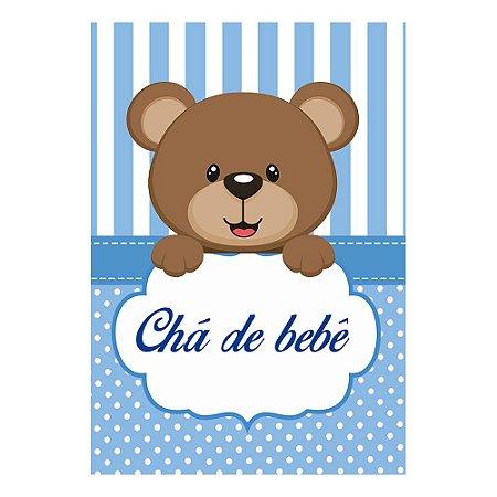 Poster Chá de Bebê Azul 30x43 - 1 Unidade