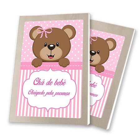 5 Bloquinhos de Papel 25 Folhas Chá de Bebê Rosa 10,5x7,5cm