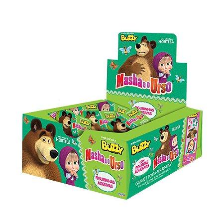 Chiclete Masha e o Urso Buzzy Hortelã 400g - Caixa com 100 unidades