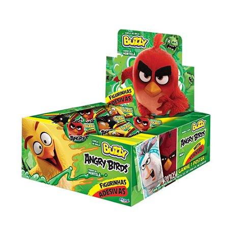 Chiclete Angry Birds Buzzy Hortelã 400g - Caixa com 100 unidades
