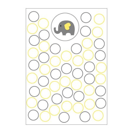 Quadro de Assinaturas e Digitais Chá de Bebê Amarelo 30x43cm - 1 Unidade