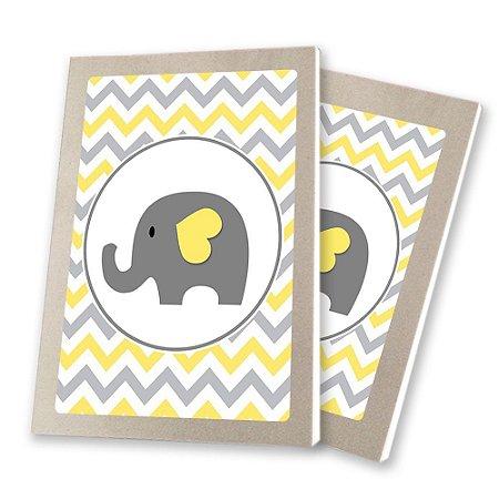 5 Bloquinhos de Papel 25 Folhas Chá de Bebê Amarelo 10,5x7,5cm