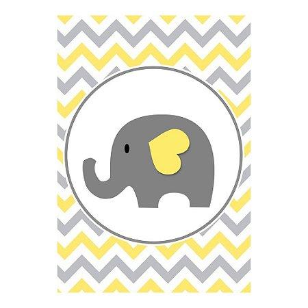 Poster Chá de Bebê Amarelo 30x43 - 1 Unidade