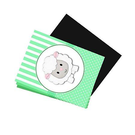 4 Imãs de Geladeira Chá de Bebê Verde 105x148mm