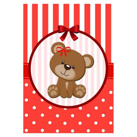 Poster Chá de Bebê Vermelho 30x43 - 1 Unidade