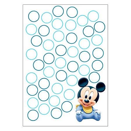 Quadro de Assinaturas e Digitais Mickey Baby 30x43cm - 1 Unidade