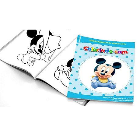 5 Cadernos de Colorir Mickey Baby