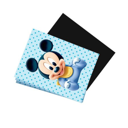 8 Imãs de Geladeira Mickey Baby 74x105mm