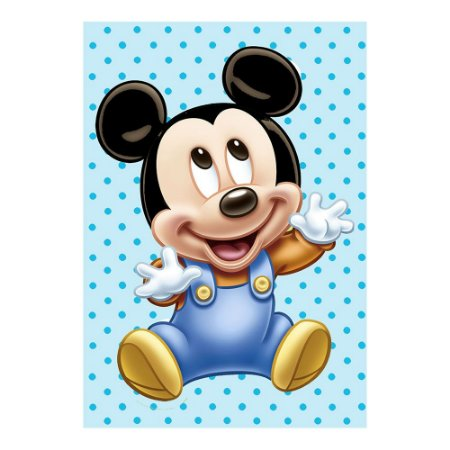 Poster Mickey Baby 30x43 - 1 Unidade