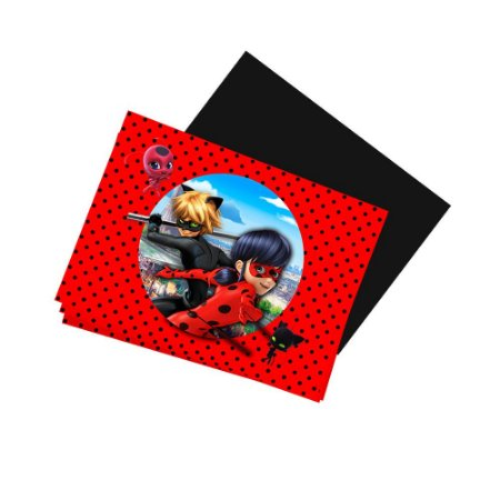 8 Imãs de Geladeira Ladybug Miraculous 74x105mm