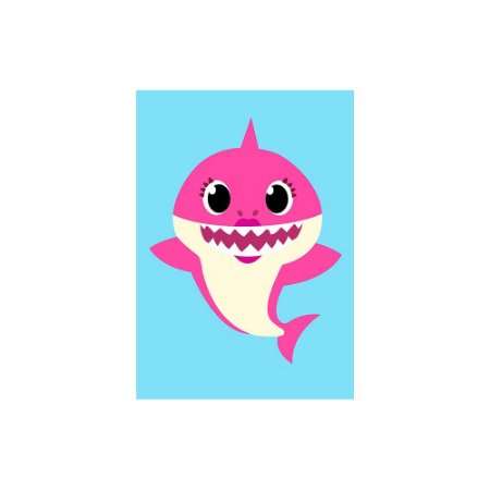 Poster Baby Shark - Mamãe Mommy 30x43 - 1 Unidade