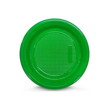 Prato Descartável 15cm Verde 10 Unidades