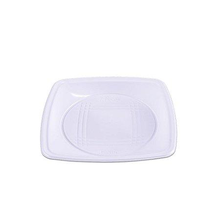 Prato Descartável Quadrado Médio Branco Quality Line 10 Unidades