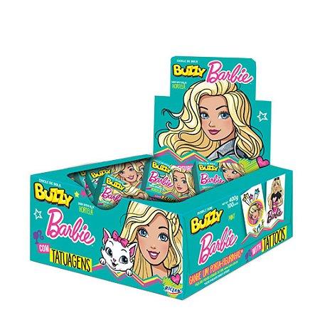 Chiclete Barbie Buzzy Sabor Hortelã 400g - Caixa com 100 unidades