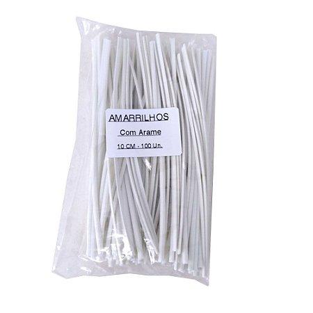Araminho Amarrilho 10cm Branco - 100 Unidades