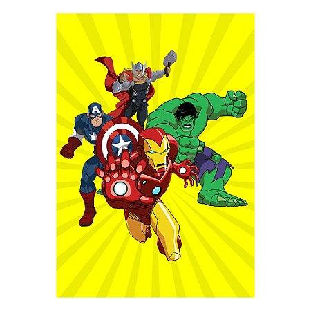 Poster Vingadores Desenho 30x43 - 1 Unidade