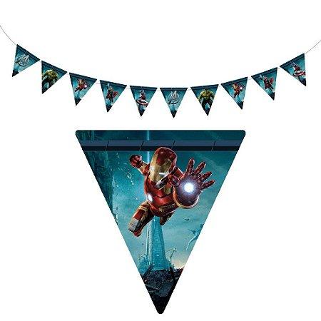 10 Bandeirolas Triangular Vingadores