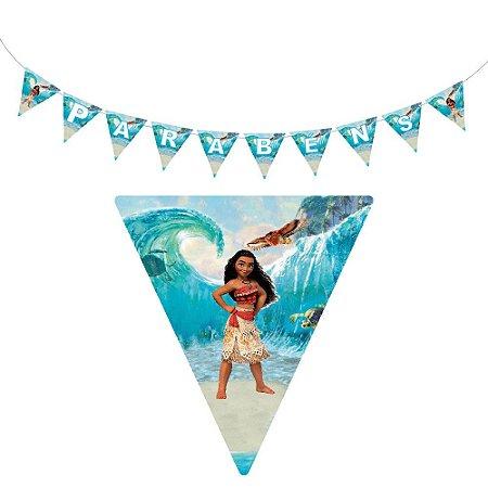 10 Bandeirolas Triangular Moana