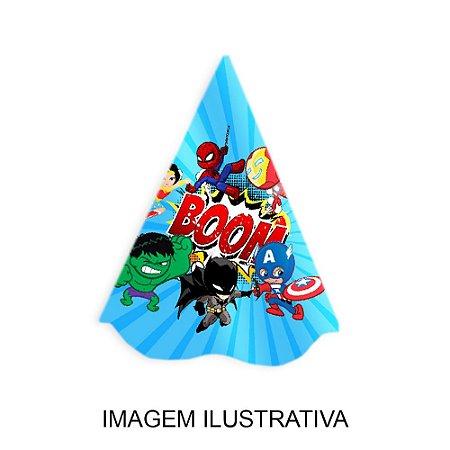 5 Chapéus de Festa Super Heróis Baby