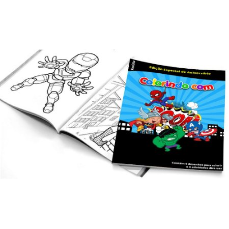 5 Cadernos de Colorir Super Heróis Baby