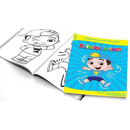 5 Cadernos de Colorir Luccas Neto