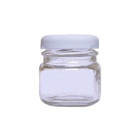 Pote de Papinha de Vidro Redondo 40ml Branco - 10 Unidades
