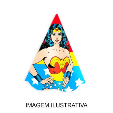 5 Chapéus de Festa Mulher Maravilha