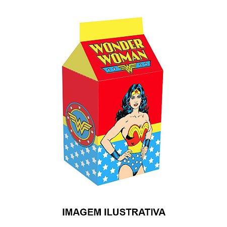 5 Caixinhas Milk Mulher Maravilha Para Lembrancinha