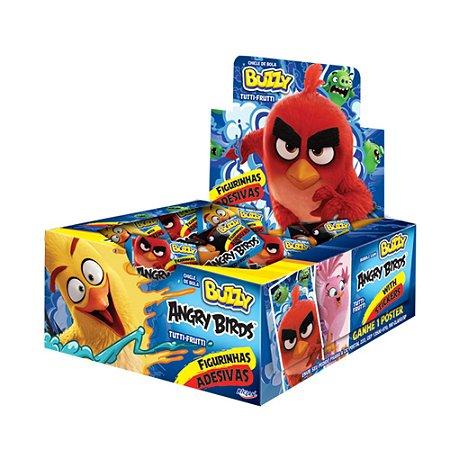 Chiclete Angry Birds Buzzy Tutti Frutti 400g - Caixa com 100 unidades