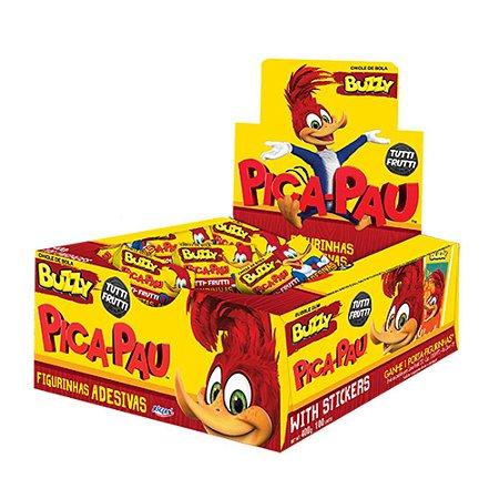 Chiclete Pica Pau Buzzy Tutti Frutti 400g - Caixa com 100 unidades