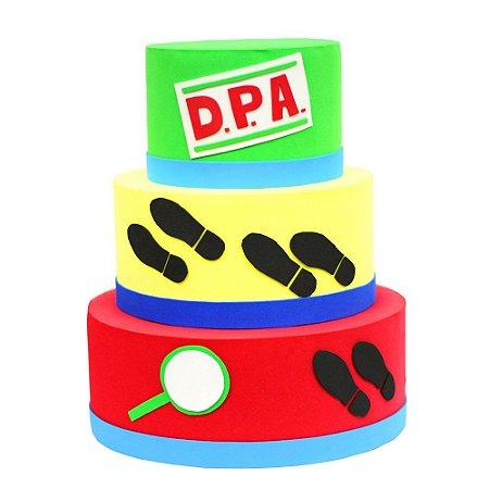 Bolo Fake Decorativo DPA Detetives do Prédio Azul