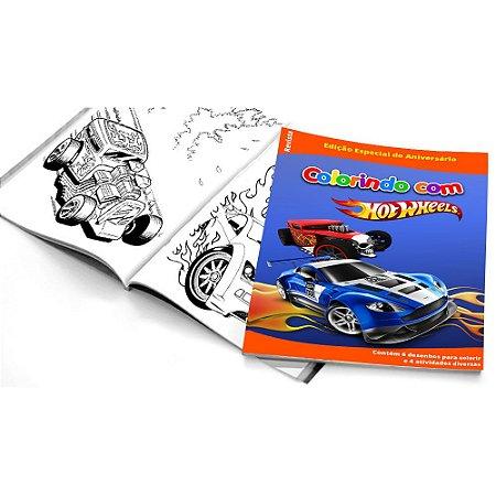5 Cadernos de Colorir Hot Wheels