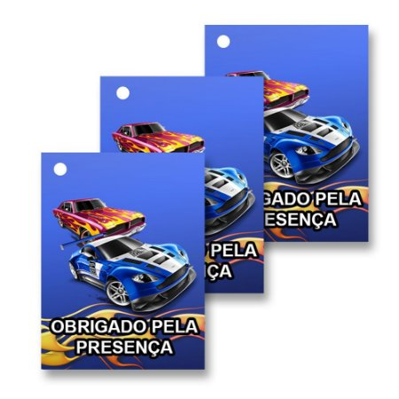 30 Tags Hot Wheels 4x3cm