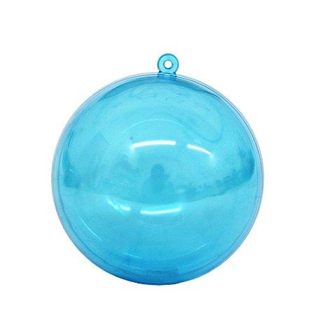 Bola ou Esfera Acrílica Azul 6,5cm - 10 unidades