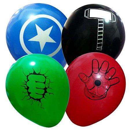 Balão Bexiga Vingadores Sortido Nº 11 28cm - 25 Unidades